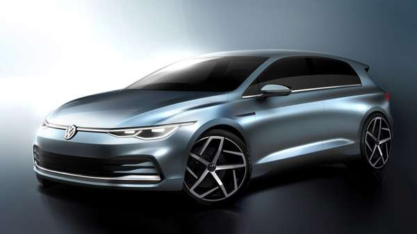 Sketch do VW Golf Mk8.