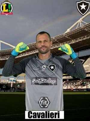 Diego Cavalieri - 7,5 - O goleiro do Botafogo conseguiu fazer grandes defesas durante a partida, evitando um placar mais elástico. Não teve culpa no gol de Thiago Santos.