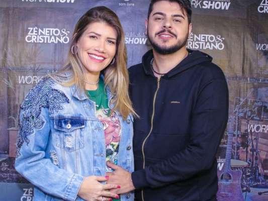 Mulher de Cristiano, dupla de Zé Neto, Paula Vaccari ganhou 3 kg com 6 meses de gravidez
