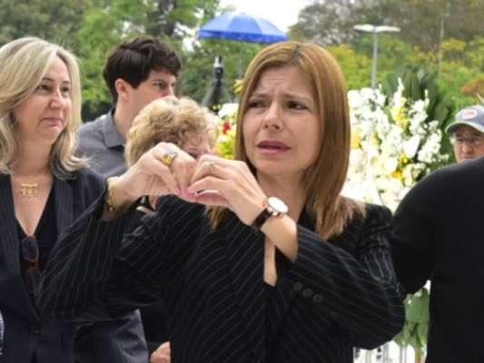 Viúva de Gugu, Rose Miriam Di Matteo faz 1ª declaração após enterro do artista nesta sexta-feira, dia 29 de novembro de 2019