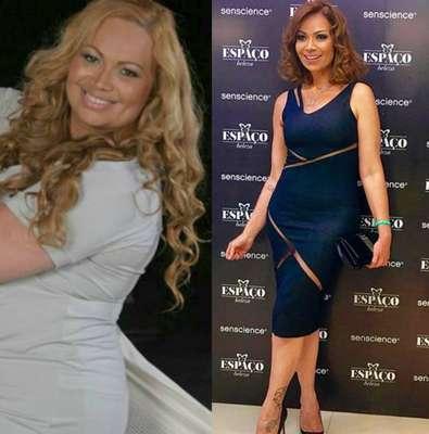 Solange Almeida - A vocalista do grupo Aviões do Forró, que pesava 120 quilos antes da cirurgia bariátrica, agora tem 65 quilos.