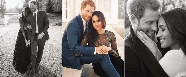 Para colocar no porta-retrato - Quase um mês após anunciarem que estavam noivos, as redes sociais do Palácio de Kensington divulgaram as fotos oficiais do noivado do príncipe Harry e Meghan Markle. Nas imagens, é possível ver com mais detalhes o anel da atriz.