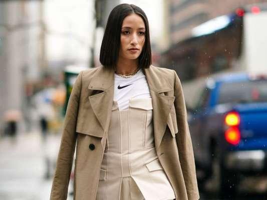 Moda de NY: espartilho é tendência absoluta no street style do New York Fashion Week