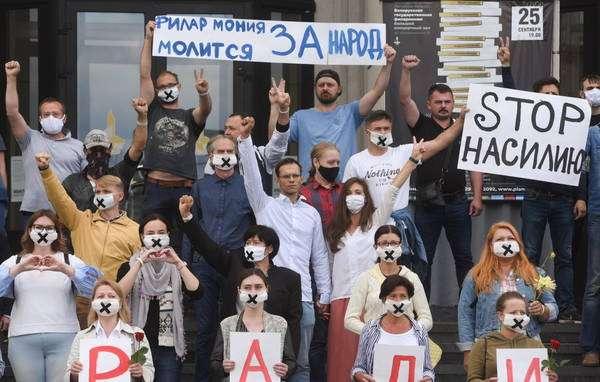 Protestos em Belarus já têm mais de 6,7 mil presos