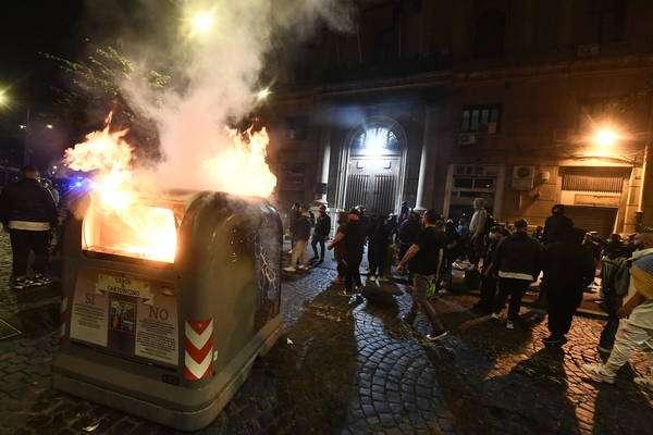 Protesto em Nápoles está marcado por conflitos