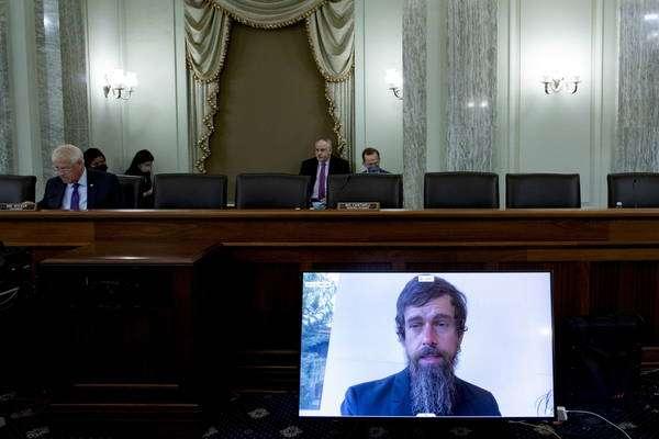 Dorsey participou da audiência de maneira virtual