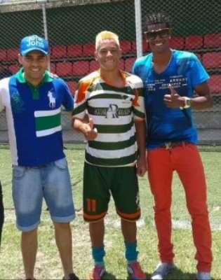 Breno Lopes com Marlon Maranhão (esq.) nos tempos da várzea em Belo Horizonte