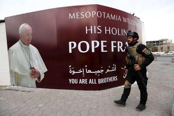 Viagem do papa Francisco ao Iraque terá esquema de segurança imponente