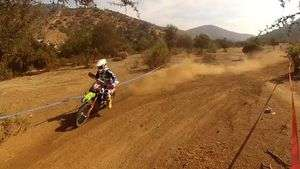 Slow motion de Luciano Villavicencio del Team Kawasaki Enduro