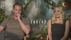 "Margot Robbie la musa de Alexander Skarsgard en ""The Legend of Tarzan"""