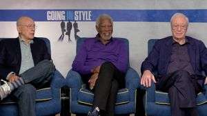 Morgan Freeman, Michael Caine y Alan Arkin roban un banco en 'Going in style' (VIDEO)