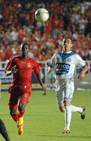 América de Cali se estrenó con una victoria 1-0 sobre Real Santander en el Torneo Postobón 2 (Primera B). Foto: Alejandro Marulanda Gómez.